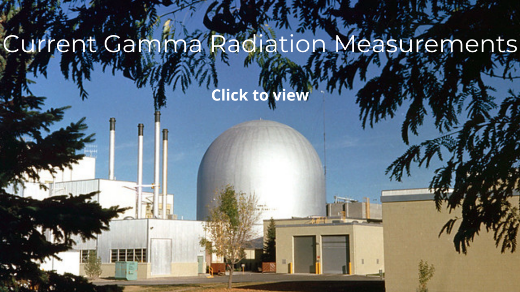 Click the Idaho National Laboratory image to see the current gamma radiation measurement.