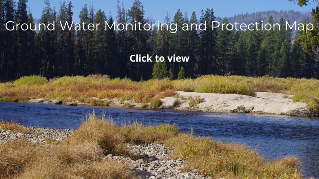 Click the image to view the ground water monitoring and protection map.