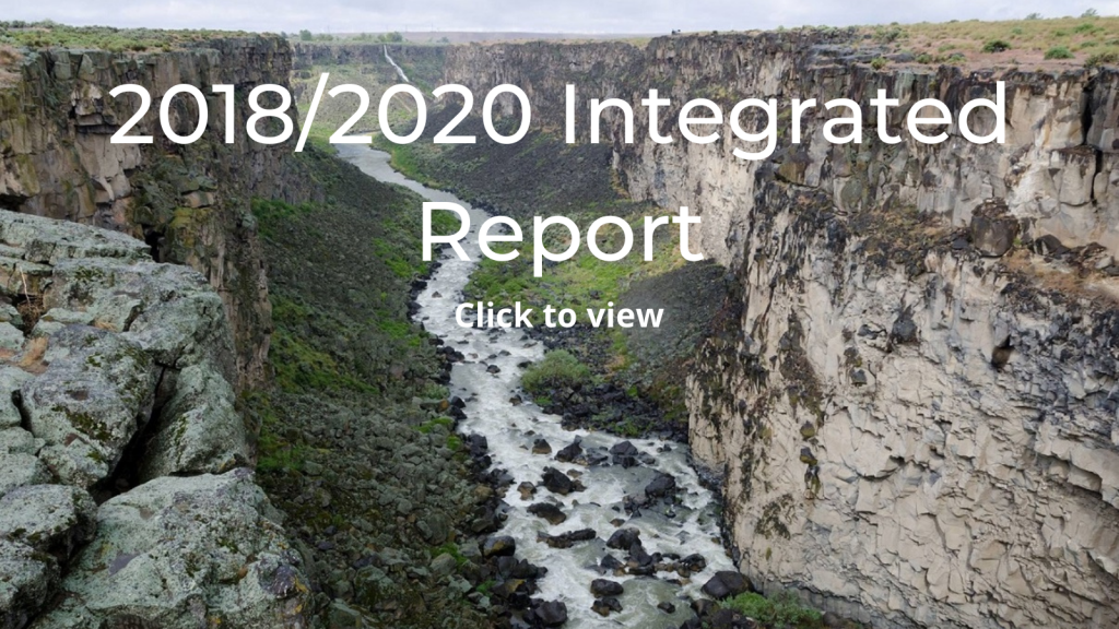 2018/2020 Integrated Report click to view the storymap