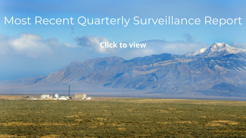 Click the image of the Idaho National Laboratory to view the most recent quarterly surveillance report.